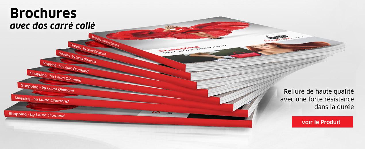 Brochures avec dos carré collé