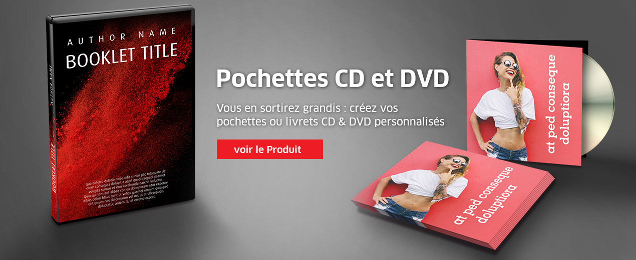 Pochettes CD et DVD