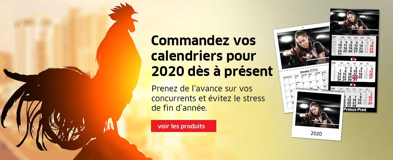 Calendrier 2020 déjà disponible !