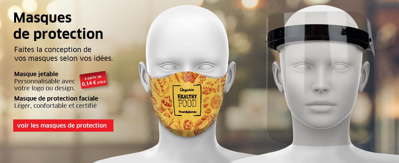 Masques de protection selon vos souhaits