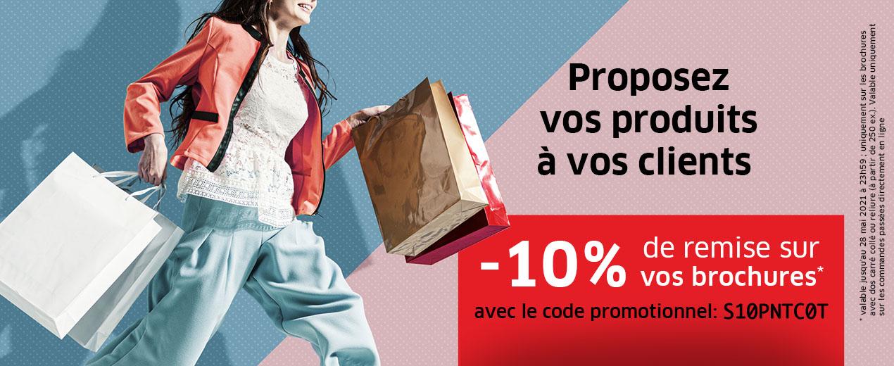 Économisez sur votre campagne publicitaire - avec une réduction de 10% sur vos brochures