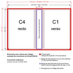 Brochures avec dos carré collé - exemple de couverture au format DIN A4