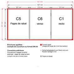 Brochures agrafées - exemple de couverture au format DIN A4